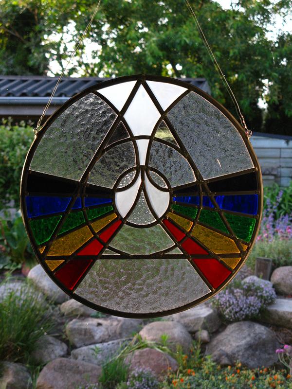 Glas In Lood Raamhanger.Glasatelier Buitendijk Glas In Lood Ronde Raamhanger Te Koop